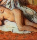 After the Bath circa 1885 Musee du Louvre France Drawing pastel