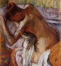 After the Bath circa 1900 1910 Columbus Drawing pastel