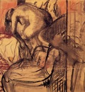 After the Bath circa 1904 Art Gallery of Ontario Canada Drawing charcoal