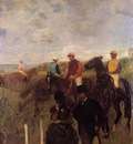 At the Races circa 1868 1872 Private collection Painting oil on canvas