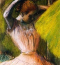 Ballet Corps Member Fixing Her Hair circa 1900 1902 Private collection Drawing pastel