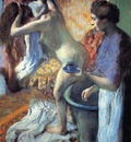 Breakfast after Bath circa 1895 Private collection pastel