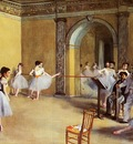 Dance Class at the Opera 1872 Musee d Orsay France oil on canvas