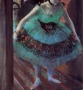 Dancer Leaving Her Dressing Room circa 1879 Private collection pastel