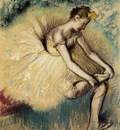 Dancer Putting on Her Slipper 1896 Private collection pastel