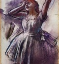 Dancer with Left Art Raised 1887 Kimbell Art Museum USA