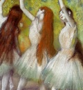 Dancers in Green circa 1878 Private collection pastel