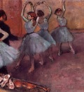 Dancers in Light Blue also known as Rehearsing in the Dance Studio circa 1882 PC