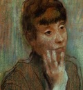 Portrait of a Woman Wearing a Green Blouse 1884 PC