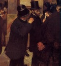 Portraits at the Stock Exchange circa 1878 1879 Musee d Orsay France