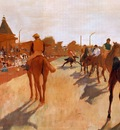 Racehorses before the Stands 1866 1868 Musee d Orsay France