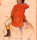 rider in a red coat