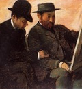 The Amateurs also known as Paul Lafond and Alhonse Cherfils Examening a Painting 1878 1880 PC