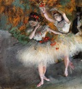 Two Dancers Entering the Stage circa 1877 1878 Fogg Museum of Art USA