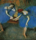 Two Dancers in Blue circa 1899 Musee d Orsay France