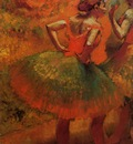 Two Dancers in Green Skirts Landscape Scenery 1894 1899 PC