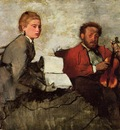 Violinist and Young Woman circa 1872 Detroit Institute of the Arts USA