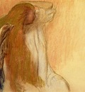 Woman Combing Her Hair 1894 PC