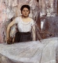 Woman Ironing circa 1872 Neue Pinakothek Munich Germany