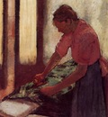 Woman Ironing circa 1892 1895 Walker Art Gallery England