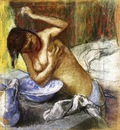 Woman Sponging Her Chest 1892 PC