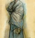 Woman in Blue also known as Portrait of Mlle  Helene Rouart 1886 PC