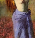 Woman in a Blue Dressing Gown Torso Exposed 1887 1890 PC