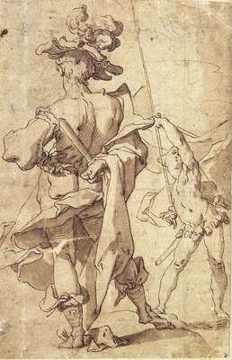 BLOEMAERT Abraham Warrior And Young Standard Bearer