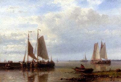 Hulk Abraham Shipping In A Calm Estuary