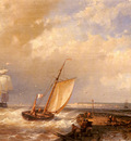 Hulk Abraham A Dutch Pink Heading Out To Sea With Shipping Beyond