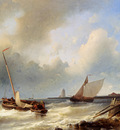 Hulk Snr Abraham Shipping Off The Dutch Coast