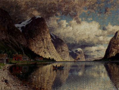 Normann Adelsteen A Clody Day On A Fjord
