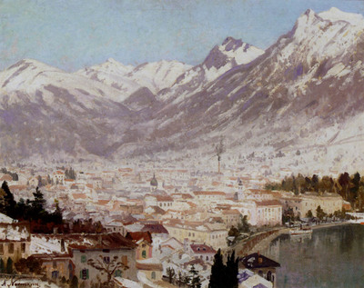 Normann Adelsteen A View Of Como