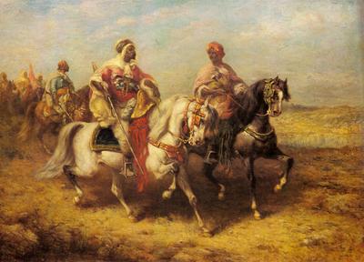 Schreyer Adolf Arab Chieftain And His Entourage
