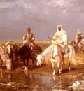 Schreyer Adolf Arabs Watering Their horses