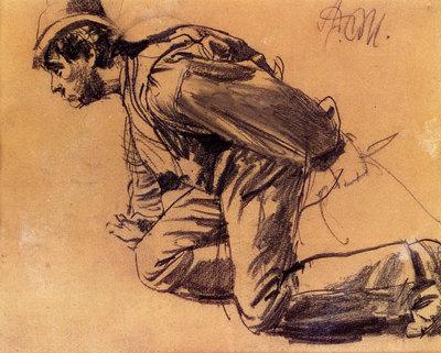 Menzel Adolph Von Study Of