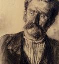 Menzel Adolf Friedrich Head Of A Man