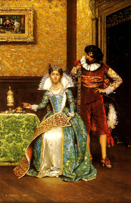 Lesrel Adolphe Alexandre The Attentive Courtier