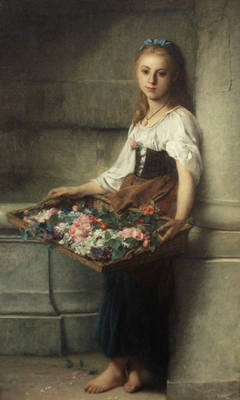 Jourdan Adolphe THE FLOWERSELLER