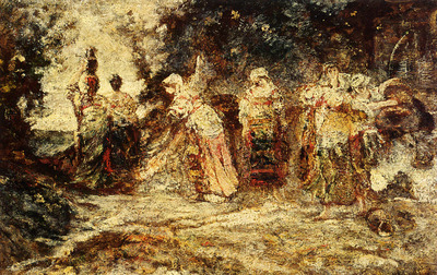 Monticelli Adolphe At The Well