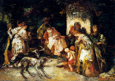 Monticelli Adolphe The Offering