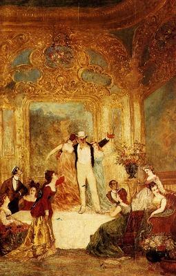 Monticelli Adolphe Une Soiree Chez La Paiva