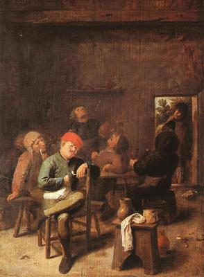 BROUWER Adriaen Peasants Smoking And Drinking
