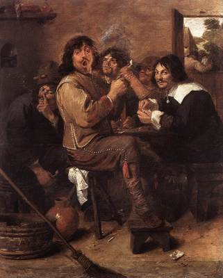 BROUWER Adriaen Smoking Men