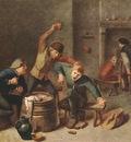 BROUWER Adriaen Brawling Peasants