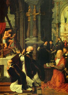 Isenbrandt Adriaen The Mass Of St Gregory