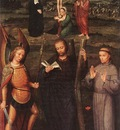 ISENBRANT Adriaen Archangel St Michael St Andrew and St Francis of Assissi