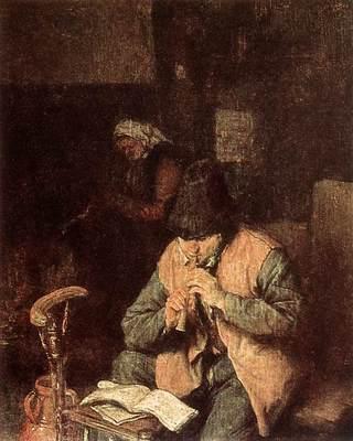 OSTADE Adriaen Jansz van Flute Player