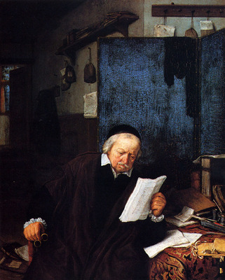 Ostade Adriaen Jansz Van Lawyer In His Study