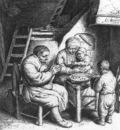 OSTADE Adriaen Jansz van Prayer Before The Meal